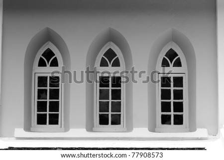 church windows - stock photo