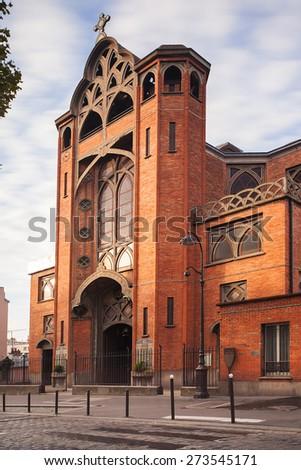 Churche Saint Jean de Mormartre, Paris, France - stock photo