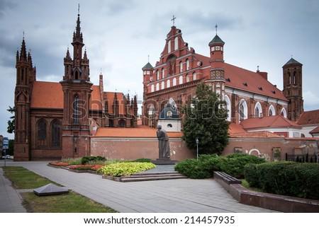 Churches in Vilnius - stock photo