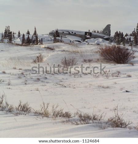 Churchill Northern Manitoba Abandoned Aircraft - stock photo