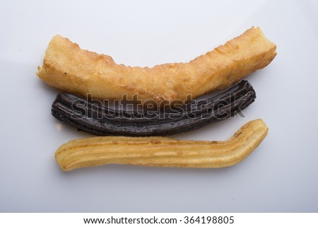 churros typical food spain - stock photo