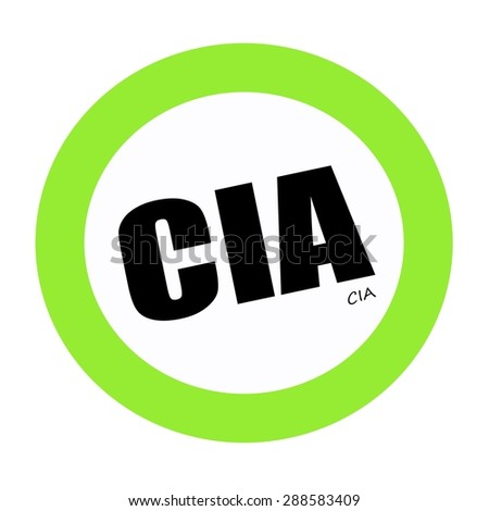 CIA black stamp text on green  - stock photo