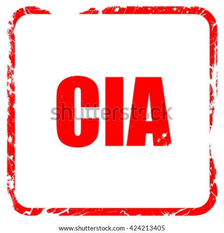 cia, red rubber stamp with grunge edges - stock photo