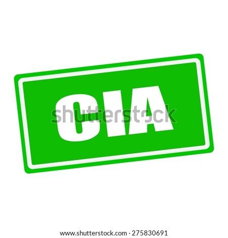 Cia white stamp text on green background - stock photo