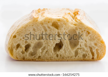 ciabatta bread with very large depth of field - stock photo