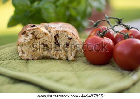 ciabatta with tomatoes