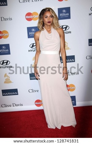 Ciara at the 2013 Clive Davis And Recording Academy Pre-Grammy Gala, Beverly Hilton Hotel, Beverly Hills, CA 02-09-13