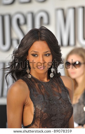 Ciara at the 2010 MTV Video Music Awards at the Nokia Theatre L.A. Live in downtown Los Angeles. September 12, 2010  Los Angeles, CA Picture: Paul Smith / Featureflash