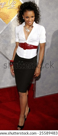 Ciara attends the 'Step Up' Los Angeles Premiere held at the Arclight Theater in Hollywood, California on August 7, 2006.  - stock photo