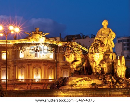 Cibeles Fountain, Madrid - stock photo
