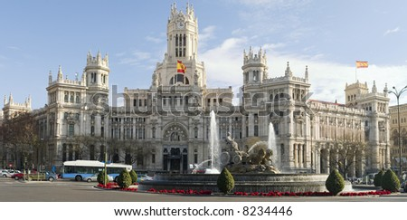 Cibeles, Madrid Spain - stock photo