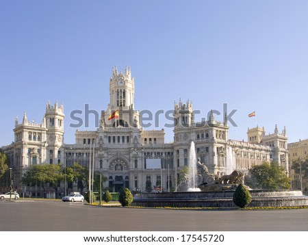 Cibeles Square, the  most popular square of  Madrid - Spain