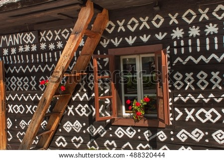 cicmany slovak republic august 23 2016 traditional folk architecture the old