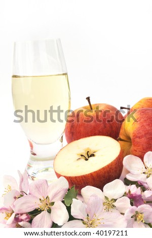 Cider and apple - still-life - stock photo