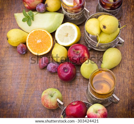 Cider and sangria - stock photo