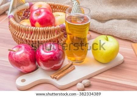 Cider - hot alcohol apple beverage. - stock photo