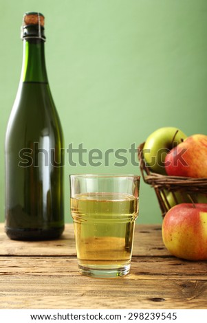 cider rustic background - stock photo