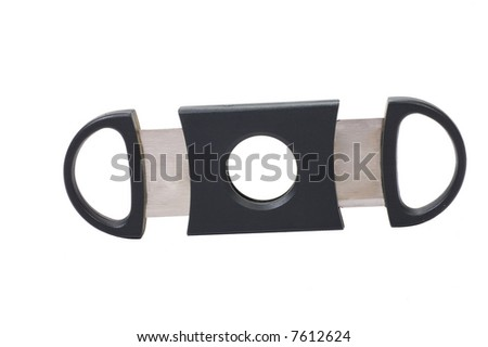 Cigar cutter isolated on white background - stock photo