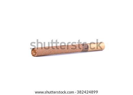 Cigar isolated on white background - stock photo