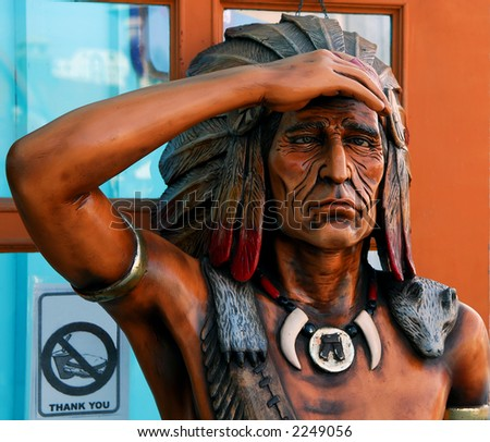 Cigar Store Indian - stock photo