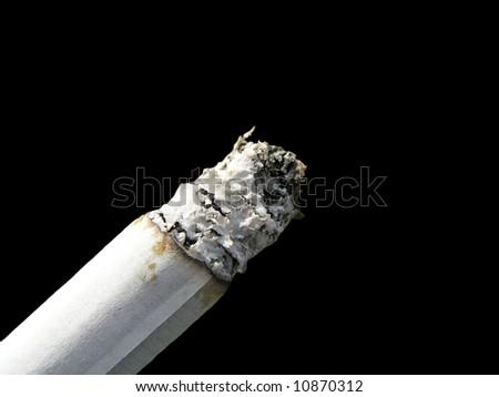 cigaret close-up isolated on black blackground - stock photo