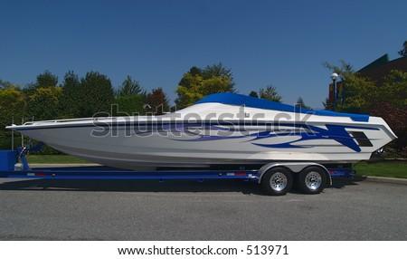 Cigarette boat - stock photo