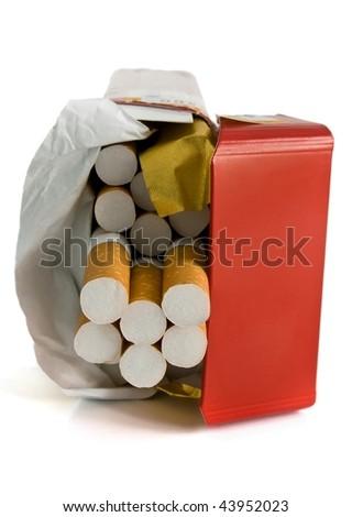 cigarette box - stock photo