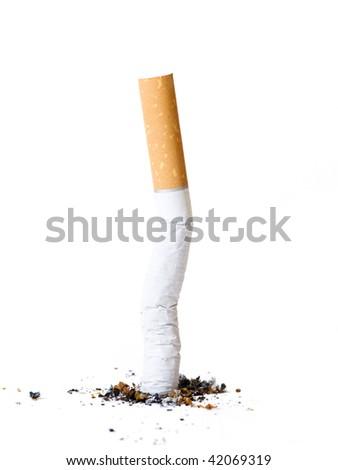 Cigarette but - stock photo