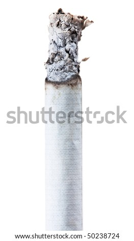 Cigarette close-up. Stop smoking, please! - stock photo
