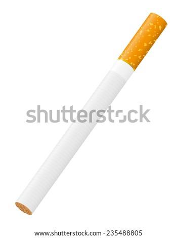 cigarette illustration isolated on white background - stock photo