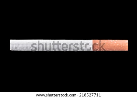 Cigarette isolated on a black background with clipping path