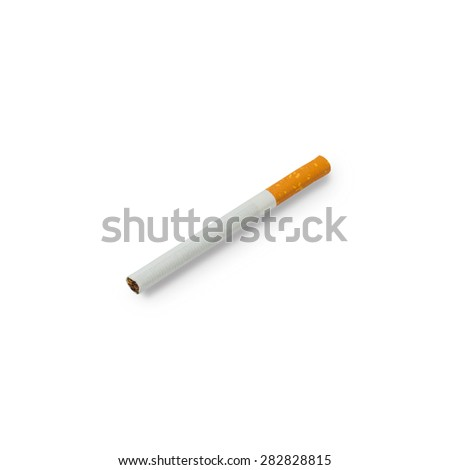 Cigarette isolated on a white background with clipping path - stock photo