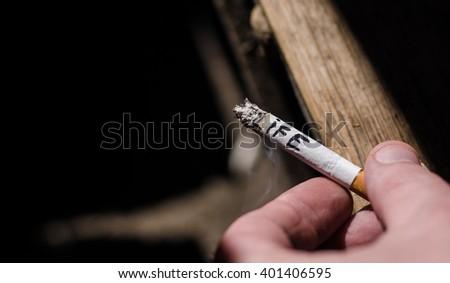 Cigarette, life - stock photo