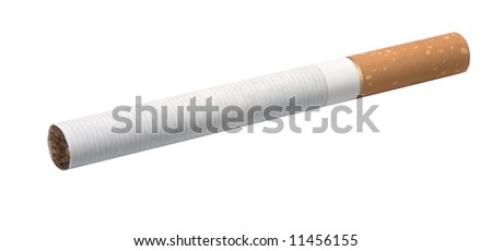 Cigarette on the white background (isolate).