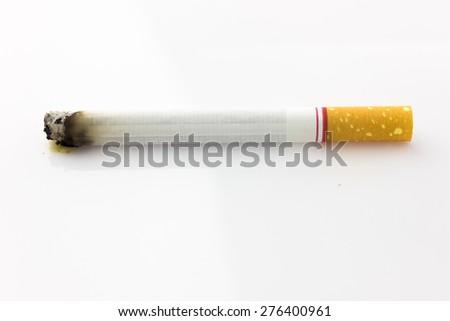 cigarette on white background  - stock photo