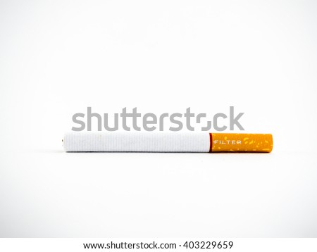 Cigarette or tobacco isolated on a white background  - stock photo