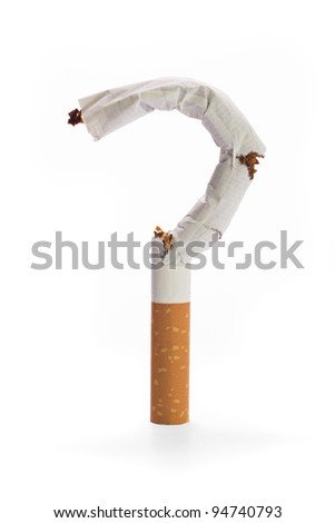 Cigarette – question mark - stock photo