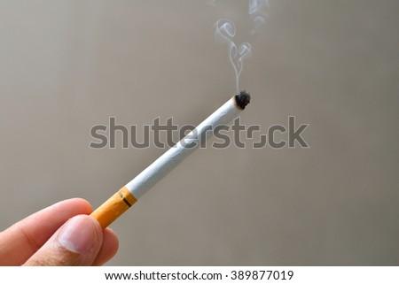 cigarette smoke - stock photo