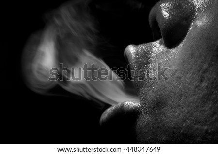 Cigarette smoke makes a foul mouth