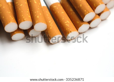 cigarette sticking out from the pack