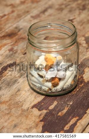 cigarette stub no.1 - stock photo