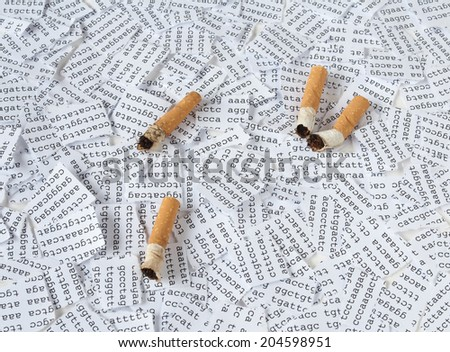 Cigarettes and DNA - stock photo