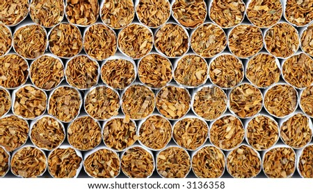 cigarettes, great for backgrounds, campaigns, easily converts to sepia or black and white - stock photo