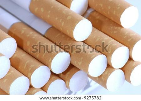 Cigarettes in close-up - stock photo