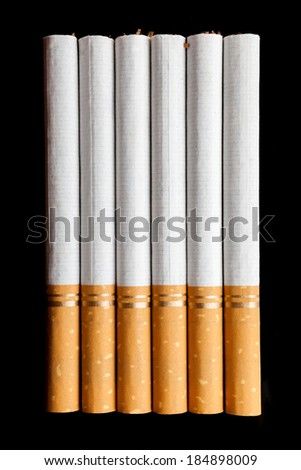 Cigarettes isolated on a black background