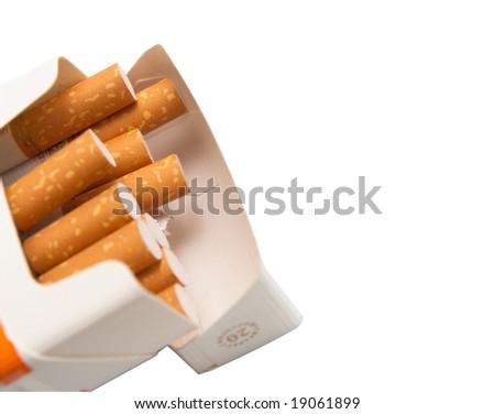 cigarettes isolated on white - stock photo