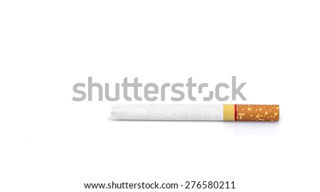 Cigarettes isolated on white background - stock photo