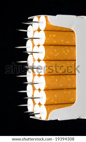 cigarettes with needles - stock photo