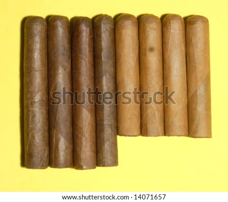 Cigars: A selection of eight hand rolled maduro and Connecticut wrapped long filler cigars.