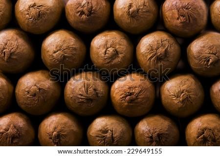 cigars background - stock photo